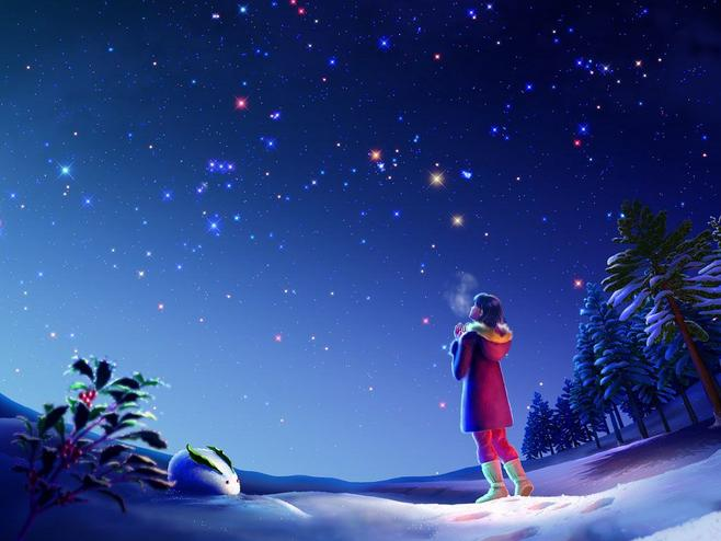 夏夜记忆星空